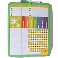 Reward Chart Supplied with Magnetic & 3M Pads, Stickers and Dry Marker (28 x 36 cm)