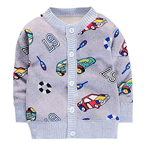 Shopaholic0709 Neugeborenes Baby Langärmelige,Baby Junge Mädchen (12M-4T) Langarm-Karikatur-Druck...