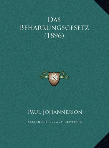 Das Beharrungsgesetz (1896)