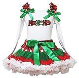 Robe de Noël Santa Hohoho L/S Chemise de coton Rwg Pois Jupe Fille Lot de 1–8Y -  Vert - XL