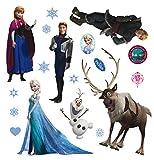 AG Design Disney Frozen Wand Sticker, PVC-Folie (Phtalate-Free), Mehrfarbig, 30 x 30 cm