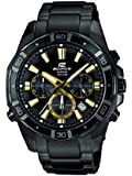 Casio Herren-Armbanduhr XL Edifice Analog Quarz Edelstahl EFR-534BK-1AVEF