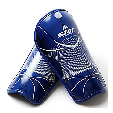 OFT Kids Children Youths Shin Guards Pads Leg Protectors Shield Pads for Football Soccer (Blue)