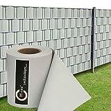 Profi-Sichtschutzstreifen | PVC | M-Tec matt EXKLUSIV ✔ lichtgrau ✔ 35m x 19cm ✔ seidig-matt ✔ | Nach M-Tec Technology Rezeptur Hergestellt -