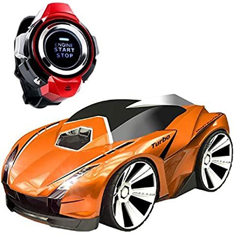 Wireless RC Racing Car, Koiiko Voice Command Car 2.4GHz High Speed Rechargable Wireless Remote Control Car Mini Voice Control Vehicles RC Car Voice-activated Car with Smart Watch Electric Vehicles Toys for Child Kids Birthday Gift Orange