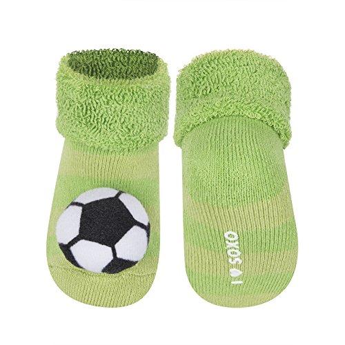 Babysocken Rasselsocken Kindersocken Söckchen Spielsöckchen Gr. 11 Fußball (Fußball-sox)