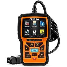 Foxwell OBD2 Auto Coche Herramienta de Análisis de Diagnóstico Motor Lector de Código Diagnosis Escáner, Orange
