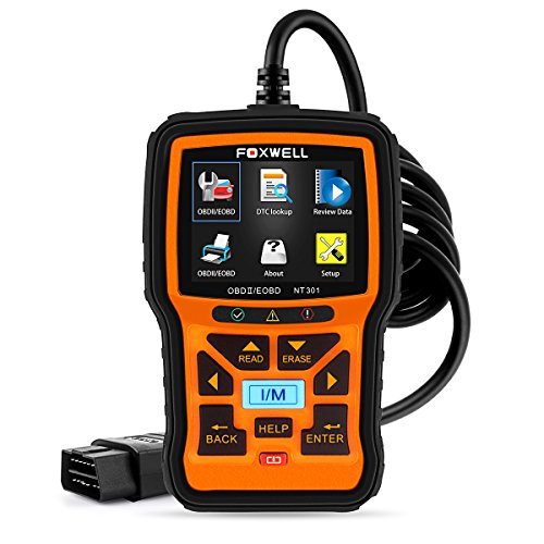 OBD2 Diagnostic Auto Scanner Multimarque en Francais OBD II/EOBD Lecteur de Code Automobile Outil de Diagnostics de Voiture Code Reader (Foxwell NT301)