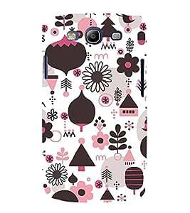 Multi Colour Flower Pattern 3D Hard Polycarbonate Designer Back Case Cover for Samsung Galaxy S3 i9300 :: Samsung I9305 Galaxy S III :: Samsung Galaxy S III LTE