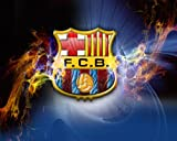 Barcelona FC Football A1 Size Glossy Poster von
