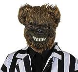 Un masque marron de tête d'ours térrifiant. Idéal pour les fêtes d'Halloween. ( X12 )