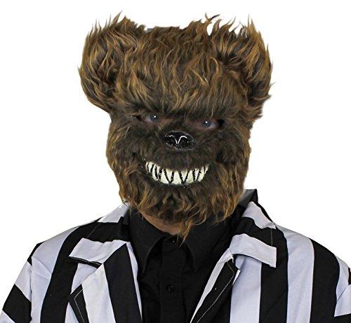 Furry braun Bär Maske mit Zähnen. Halloween Fancy Dress Zubehör