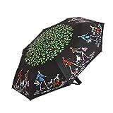 Parasols Parapluie de poche Protection solaire Parapluies pliants Ultraléger Anti-UV Extérieur Ensoleillé Pluie Parapluie de voyage à double usage Pare-vent Pour les hommes/femmes (Couleur : Noir)