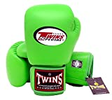 Twins Special Muay Thai Boxing Gloves BGVL3 Green , 14 oz