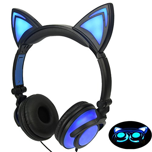 Limson Auriculares para Niños con Orejas de Gato