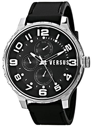 Versus - SBA01 0014 - Montre Homme - Quartz - Analogique - Bracelet Polyuréthane Noir