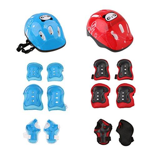 Magideal 7Teile Roller Knie Handgelenk Skate Fahrrad Helm