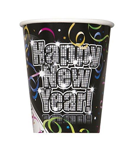 Unique Party Supplies , Countdown zu New Years Pappbecher, 8Stück
