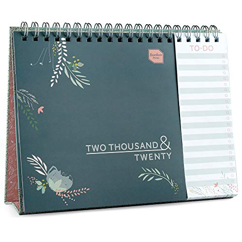Boxclever Press Calendario 2020 da tavolo Everyday von vista mensile, da Gennaio a Dicembre 2020. Calendario da tavolo 2020 con lista separata delle cose da fare. Planning per la casa o l\'ufficio.