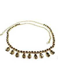 Indian Ethnic Designer Fashion High Quality Kundan Stone,Gold Plated Belly Chain For Women And Girl/ Gold Plated...