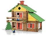 JeuJura - 8008 - Jouet en bois - construction - Le Chalet suisse- 175 pièces en coffret bois