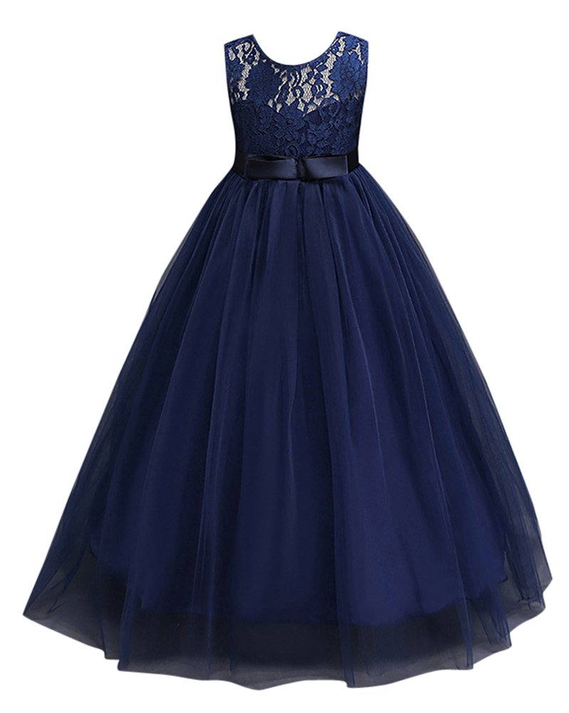94099694577 Robe de Princesse Fille Robe de Mariage Demoiselle d Honneur en Dentelles  Taille Haute