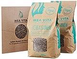 MeaVita Premium Chia Samen inklusive Rezeptbuch, 2er