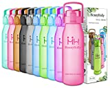 HoneyHolly Botella de Agua Sports 32oz/1l y 50oz/1.5l, sin bpa tritan plastico,...