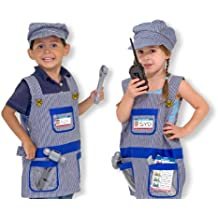 Melissa & Doug - Disfraz de maquinista de ferrocarril para niños (14836)