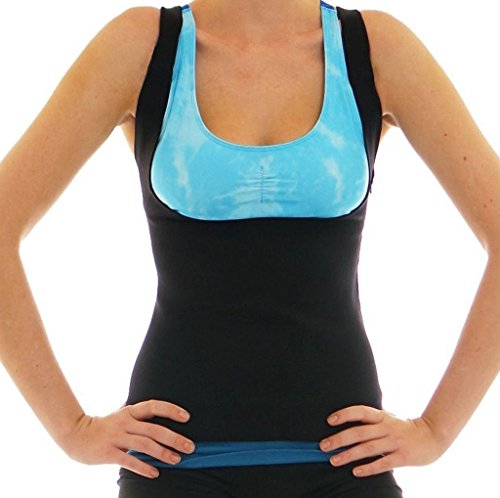 LaLaAreal Mujer Camiseta Reductora de Compresion de Neopreno para Suda
