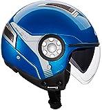 Givi HPS 11.1 Air Demi-Jet-Helm, Blau, M