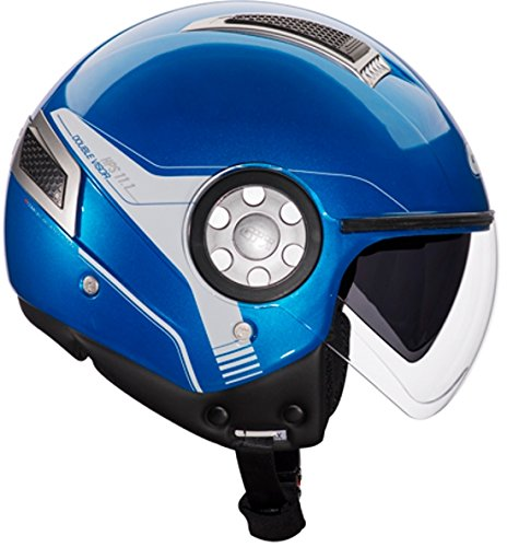 Givi H111BB50860 Hps 11.1 Air Deni Jet Casco, Color Azul, Talla 60/L
