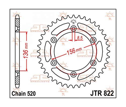 Husqvarna CR TC TE WR TXC SM SMR - Couronne Acier 42 Dellen - JTR822.42