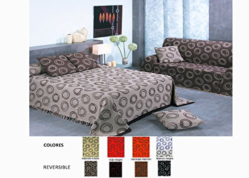 Colcha Foulard Multiusos Jacquard modelo Ondas para sofá y para cama b57c137f91b