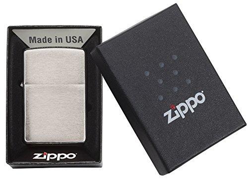 Zippo Benzin Feuerzeug Chrom Standard gebürstet Regular Sturmfeuerzeug - 5