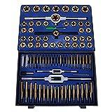 BuoQua Set Maschi E Filiere 86 Pezzi Set Maschi Per Filettare In Acciaio Al Tungsteno Cassetta Metallo Set Machi Per Filettare M3-M16 (86pz)