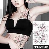 tzxdbh wasserdichte Brust Tattoo Sticker Linie Rose Pfingstrose Tattoo Tatto Body Art für Frauen-in Tattoos von 09-TH392