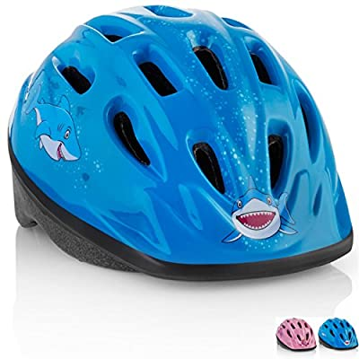 KIDS Bike Helmet – Adjustable from Toddler to Youth Size, Ages 3-7 - Durable Kid Bicycle Helmets with Fun Aquatic Design Boys and Girls will LOVE - CE Certified for Safety and Comfort - FunWave from TeamObsidian