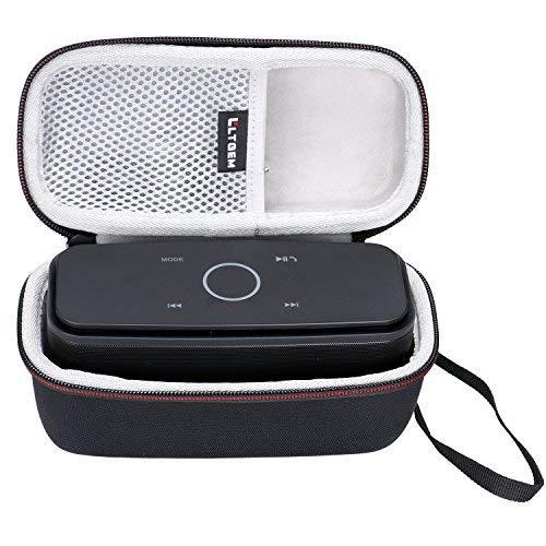 LTGEM EVA Hart Fall Reise Tragen Lagerung Tasche für DOSS SoundBox Kabellose Portabler Bluetooth 12W Lautsprecher.Mit Mesh-Tasche für Kabel.