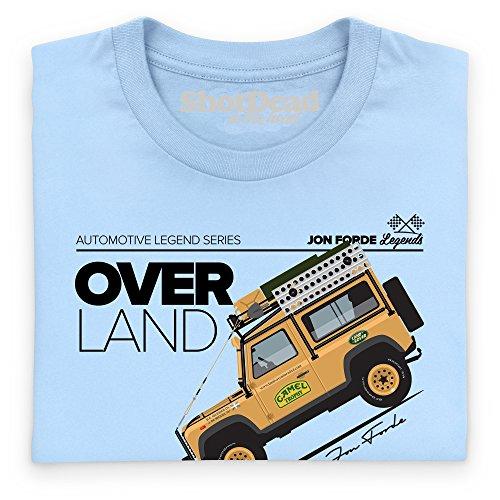 Jon Forde Over Land T-Shirt, Herren Himmelblau