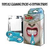 Nano Teeth Whitening Kit Werkzeuge Zahnreinigung Aufheller Pinsel Zahnflecken Gel Streifen Rauch Zähne Tools Kit,B