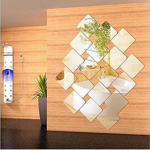 T-Mida Home,Nuova scatola acrilica 3D Stereo specchio parete adesivi decorazione parete adesivo 15 cm * 20 - Decorazione Della Parete Pittura Acrilica
