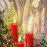 Ambiente Candles in Church - Servietten 33x33 cm