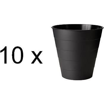Ikea 10 Er Set Papierkorb Fniss Zehn Mülleimer Aus Polypropylen