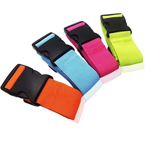 Borsa da viaggio SAIYU Set di 4 cinghie regolabili per valigia Cintura di sicurezza per bagagli Cintura di sicurezza con chiusura a fibbia
