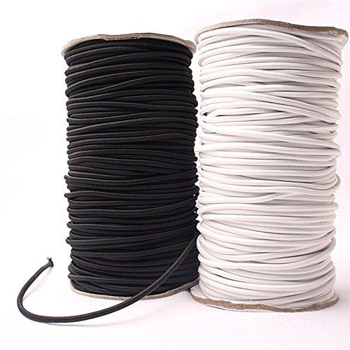 5Meter Starke Elastic Bungee Seil 5mm Breite Schwarz Weiß Shock Cord Stretch Saite für Reparatur weiß
