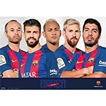 Messi 2 Schreibtischunterlage ca FC Barcelona abwischbar 35x50 cm