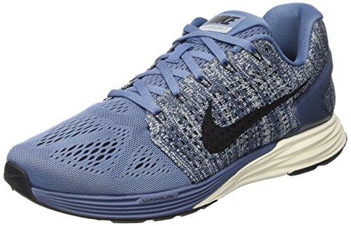 Nike Lunarglide 7, Chaussures de Running Entrainement Homme Bleu (Blau (Ocean Fog/Noir-Bleue Grey-Sail 403))