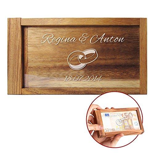 Caja mágica para regalos de dinero – Con grabado