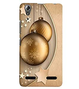 Citydreamz Golden Stars\Balls\Beautiful Design Hard Polycarbonate Designer Back Case Cover For Lenovo A6000 Plus